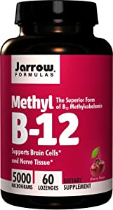 Jarrow Formulas Methylcobalamin (Methyl B12), 5000mcg, 60 Lozenges