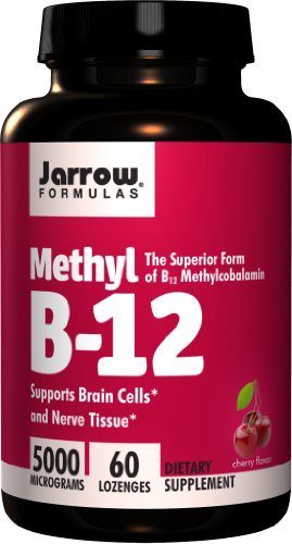 Jarrow Formulas Methylcobalamin , Supports Brain Cells, 5000 mcg