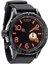 Nixon 51-30 PU Black Dial Black Polyurethane Mens Watch A0581578