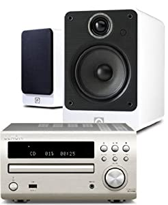 Review and Buying Guide of Buying Guide of Denon RCD-M39DAB (Silver) Micro CD Receiver System with Q Acoustics 2010i Speakers (Gloss White). Includes 5 metres Chord Leyline High Performance Speaker Cable