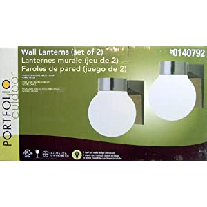 Click to buy Portfolio Outdoor Lighting: WALL LANTERN - SET OF TWO {OUTDOOR} from Amazon!