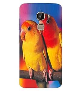 ColourCraft Love Birds Design Back Case Cover for LeEco Le 2 Pro