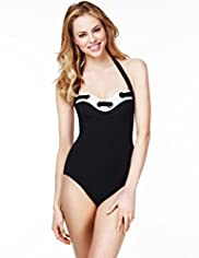 Tummy Control Ring Trim Swimsuit