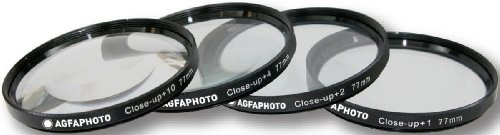 AGFA 4-Piece Close Up Macro Filter Kit 77mm (+1+2+4+10) APCUF477