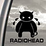 RADIOHEAD Black Decal CRYING MINOTAUR AMNESIAC ALBUM Sticker