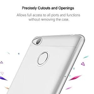 Chevron Clear Case Soft Flexible TPU Back Cover for Redmi 3S Prime ,Transparent