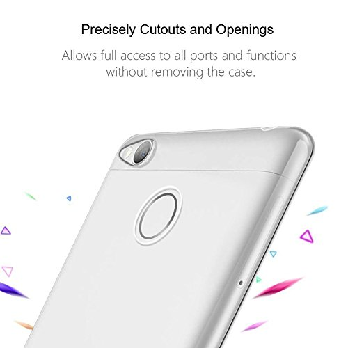 meet 67ec7 69707 Chevron Crystal Clear Case Soft Flexible TPU Back Cover for Redmi 3S Prime  (Transparent)