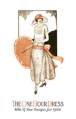 One Hour Dress -- 17 Easy-to-Sew Vintage Dress Designs From 1924 (Book 1)
