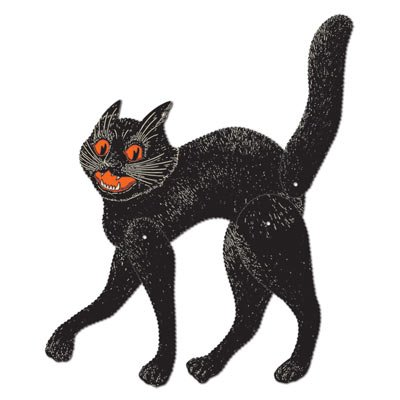 Vintage Halloween Jointed Scratch Cat 20.5in by CoolGlow