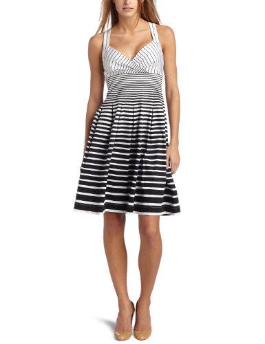 Calvin Klein Women's Cotton Stripe Halter Dress