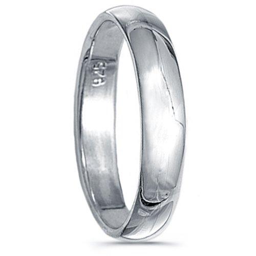 925 Sterling Silver Plain Wedding Band-4mm