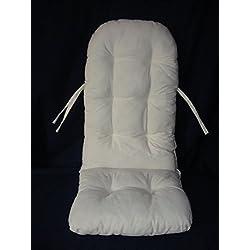 Sedia a dondolo - Cuscino in lino beige 120 x50 di produzione tedesca imbottitura per poltrona a dondolo e sospeso sull'altalena