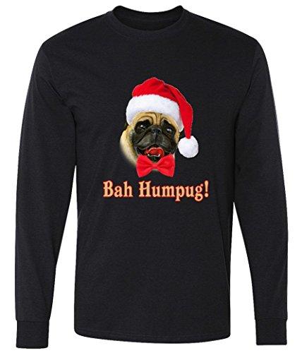 Bah Humpug Christmas Santa Pug long sleeve T-Shirt