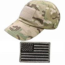 Ultimate Arms Gear Tactical Military Multi-Cam Camo Camouflage Baseball Sport Team Hat Cap + USA Flag Patch