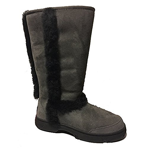 ugg-australia-womens-sunburst-tall-boot-10-bm-us-grey-black