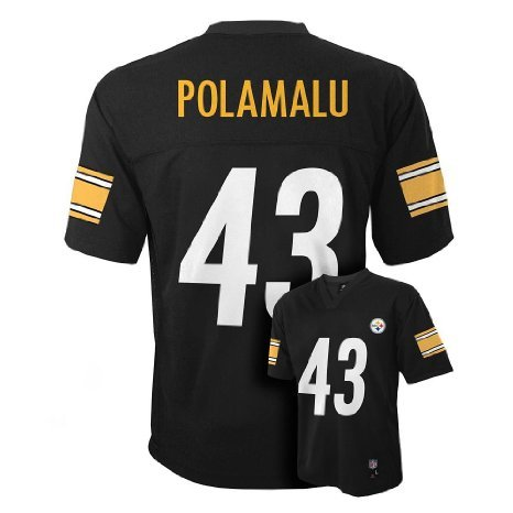 Troy Polamalu Pittsburgh Steelers Black NFL Toddler 2014-15 Season Mid-tier Jersey