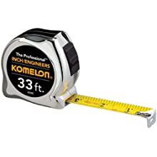 Komelon 433IE The Professional Inch/Engineer Scale 33-Foot Power Measuring Tape