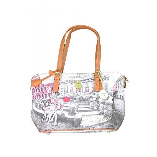Borsa Shopping Michelle piccola F388 Stampa Roma Pink girls collezione 2016