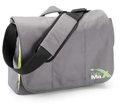 """Cabin Max Laptop 15.6 and 17"""" Mens Laptop Messenger Shoulder Bag with Kindle Neoprene Pocket"""