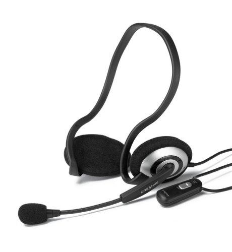 Creative HS-390 Multimedia Headset schwarz/silber