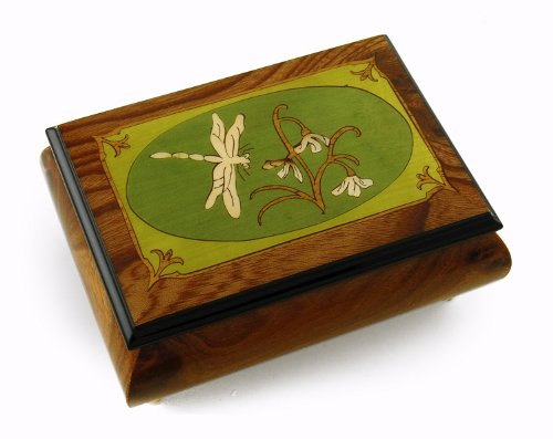tranquil-olive-green-and-wood-tone-dragonfly-music-box-with-18-note-tune-love-is-blue-lamour-est-ble