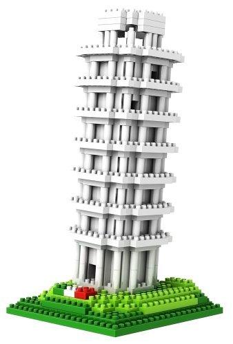 Micro Blocks, Leaning Tower of Pisa Model, Small Building Block Set