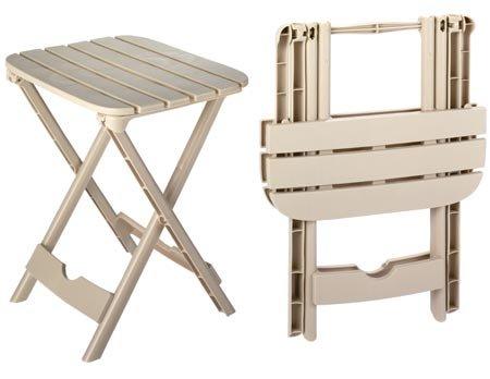 Plastic Folding Patio End Table 2 Pc Set Quick Fold