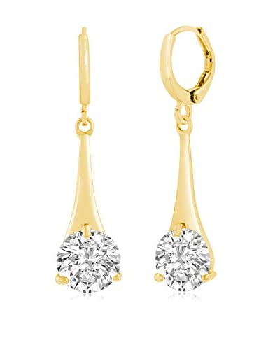 Adoriana Yellow Gold-Plated Swarovski Elements Elegant Drop Earrings