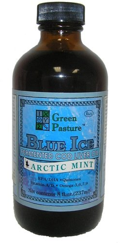 Green Pasture Blue Ice Fermented Cod Liver Oil - Arctic Mint (237Ml)