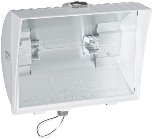 Rab Lighting Qf300Fw Quartz Curve Floodlight, Aluminum, 300W Power, 6100 Lumens, 120V, White