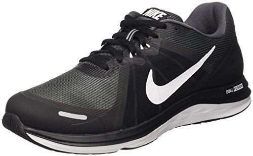 Nike Dual Fusion X 2 Scarpe da ginnastica, Uomo, Nero (Black/White/Dark Grey), 41
