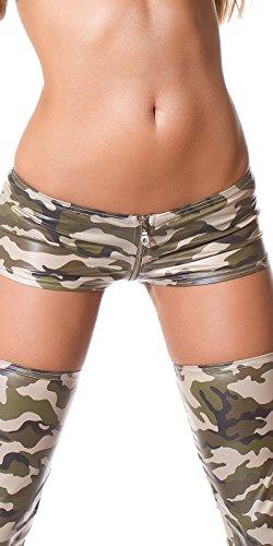Sexy Gogo-Hotpants mit Reißverschluss