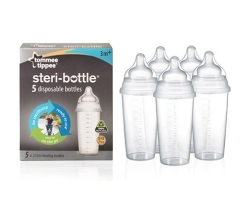 Tommee Tippee Steri-Bottle - 5 Disposable Bottles front-780969