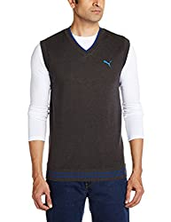 Puma Men's V-Neck Cotton Sweater (4053985459437)