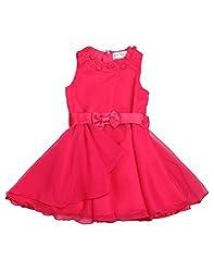 Soul Fairy Girls' Dress (SFPRYDRS06_Fuschia_9-10 Years)