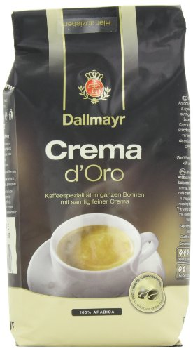 Dallmayr Gourmet Coffee, Crema D'Oro (Whole Bean), 17.6-Ounce Vacuum Packs (Pack of 2)