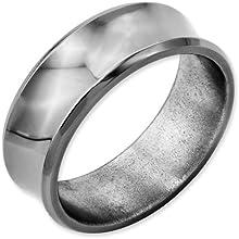Bridal Titanium Concave 8mm Polished Beveled Edge Band