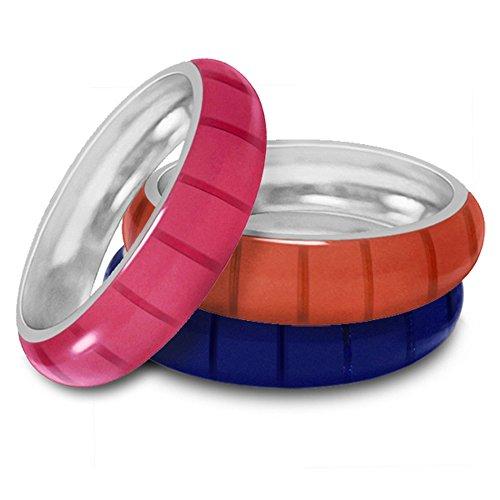 Hidalgo Colored Enamel Ring Jacket Insert in 18k White Gold (Hidalgo Enamel Rings compare prices)