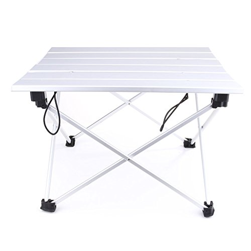 Portable Aluminum Rolling Table Folding Outdoor Camping Traveling Desk with Bag (Coleman Max Pot Set compare prices)