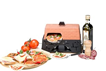 mini pizzaofen mit 2 pastenbrenner f r 2 personen ohne strom dc950. Black Bedroom Furniture Sets. Home Design Ideas