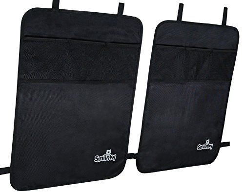 Kick Mats With Organizer - Premium Backseat Protector Seat Covers For Your Car, SUV, Minivan or Truck Seats - Vehicle Back Seat & Kids Safety Accessories - Universal Fit Automotive Interior Protectors (Car Seat Cover And Mat compare prices)