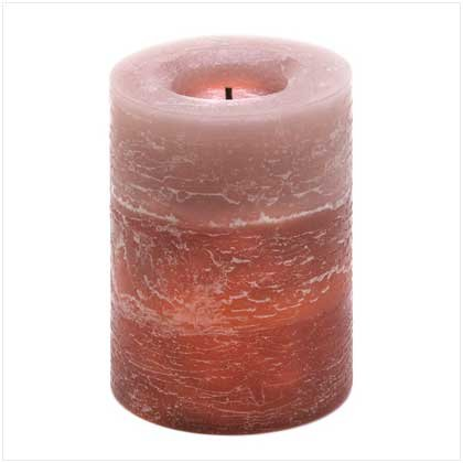 Earthtone Rustic Wood Spice Scented Led Light Candle