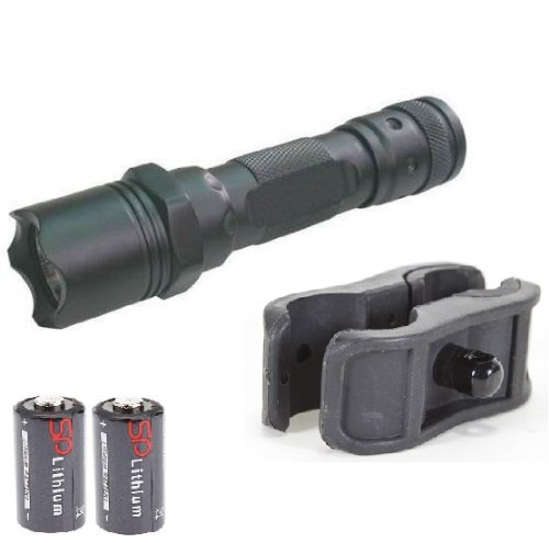 Mako Gmg Global Military Gear 130+ Lumens L.E.D Flashlight Led Tactical - Light Kit For Mossberg 500/590/835/Maverick 88 12/20 Gauge Shotgun Light Kit Includes: Gm-Sgc Barrel/Mag Tube Light Clamp Mount, Push Button Tail Cap & Battery - Features Front Serr