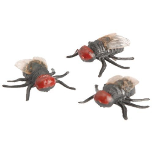 Set Of 3 Realistic Insect Bug Flies Fly Toys