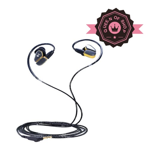 Queen Sanke V9 Gold Ipx4 Waterproof Noise Isolation Button Type Detachable Hangers Ear Headset Sport-Fi With Sports Arm Band With Aviation Level Plug