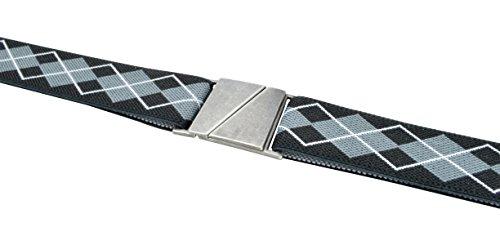 Truth-Karma Flat Elastic Belt - Black Argyle - Small