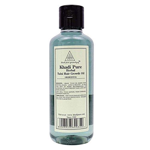 Khadi India Herbal Pure Tulsi Hair Growth Oil - 210 ml