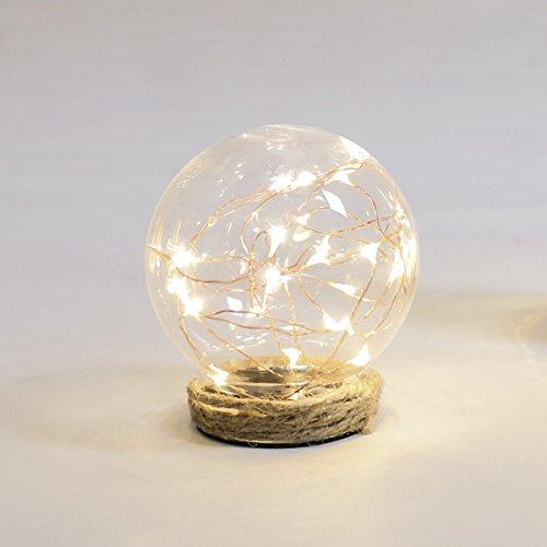 glaskuppel deko deko lichtkuppel mit kupferdraht led lichtern warmwei