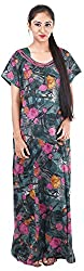 Milan Collection Women's Printed Dressing Gowns & Kimonos (MC-209_40, Multi Colored, Size - 40)