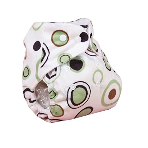 Iuhan® Lovely Baby Adjustable Reusable Washable Cloth Diaper Nappy (Green) (Cloth Diaper Packages All In One compare prices)